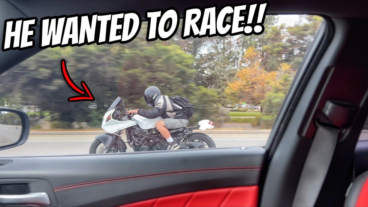 1000cc Motorcycle Calls Out Dodge Charger 392 Scat Pack