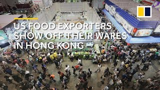 US-China trade war: US food exporters show off their wares in Hong Kong
