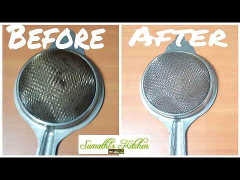 How to clean tea strainer | How to clean metal filters | Tips for cleaning tea filters