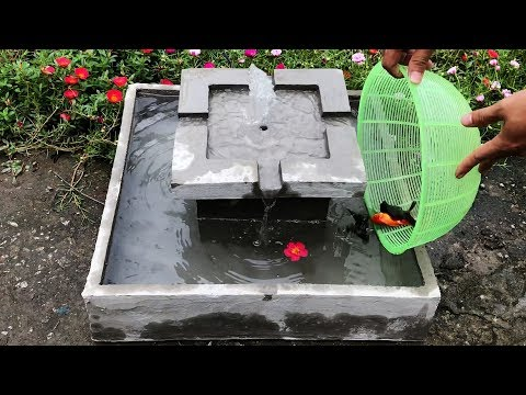 DIY - ❤️ Cement Craft Ideas ❤️ - A Great Combination Of Small Fish Ponds And Fountains