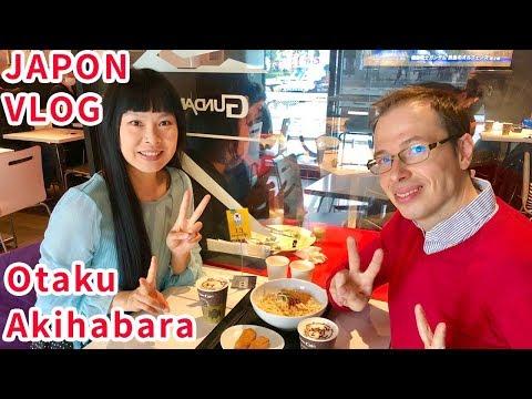 VLOG JAPON #17 Akihabara quartier otaku, boutiques anime manga, café à thème Gundam