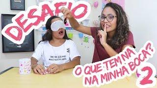 DESAFIO O QUE TEM A MINHA BOCA COM A MINHA IRMÃ! - JULIANA BALTAR