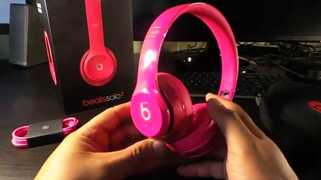 e2947b96261 Beats SOLO 2 UNBOXED ( pink edition ) - YouTube