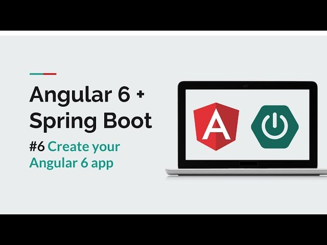 [Angular 6 + Spring Boot] #6 Create an Angular App