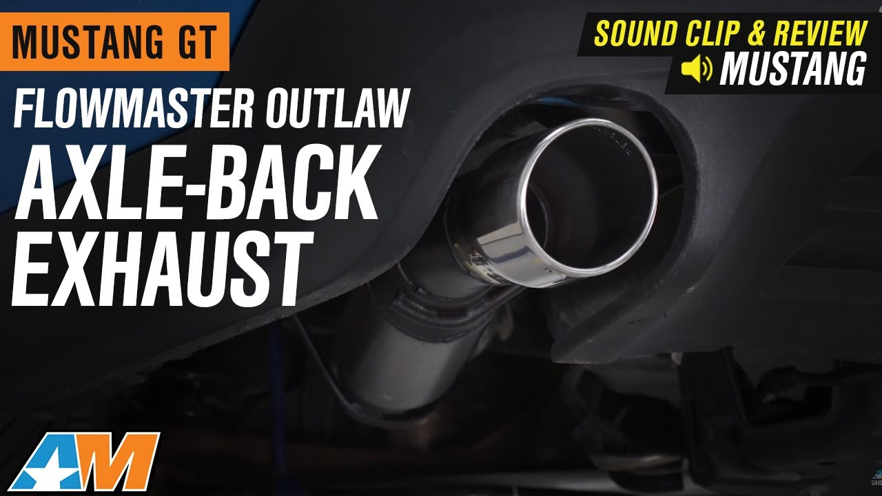 flowmaster outlaw axle back exhaust 11 12 gt gt500