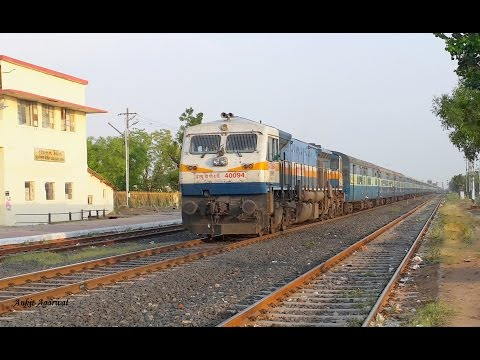Ahmedabad - Agra Fort superfast express with a surprise in the end!!