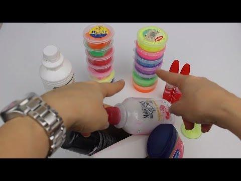 Clay Slime Karıştırma Challenge!! | Fail Pofuduk Slime Muhteşem Güzel Slime Oldu! |  Bidünya Oyuncak