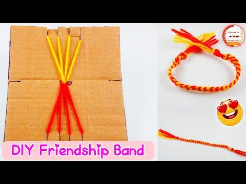 How To Make Friendship Band at Home   DIY Friendship Bracelet with Cardboard Loom   Bracelet Pattern