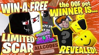 FREE SCAR PET GIVEAWAY & LIMITED OOF WINNER + ALL CODES 2019 👻 Roblox Ghost Simulator Update 12