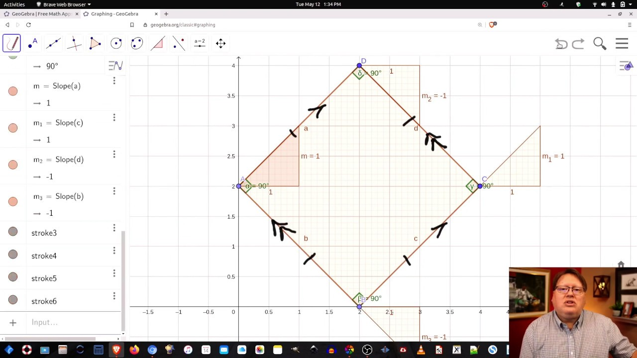 Polygons in the Coordinate Plane with Geogebra--Mr. Young