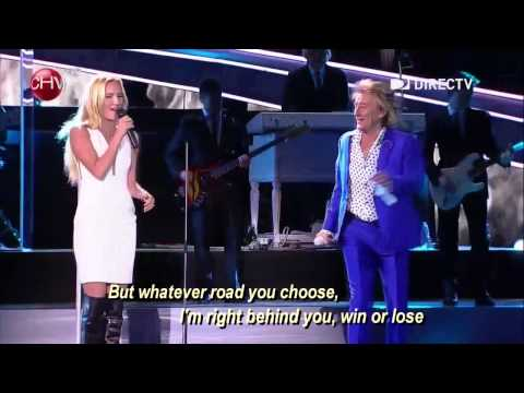 FOREVER YOUNG   Rod Stewart and daughter Ruby DUET