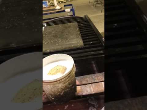 Making a sheet of Mercury Antique Mirror Glass