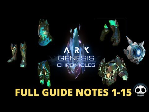 How To Get All The Corrupted Avatar Skins! Ark Genesis Chronicle Notes 1-15 Full Guide