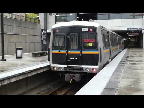 MARTA Transit: 1981/1985 FB/Hitachi CQ310/CQ311 Red Line at Lindbergh Center Station (Northbound)
