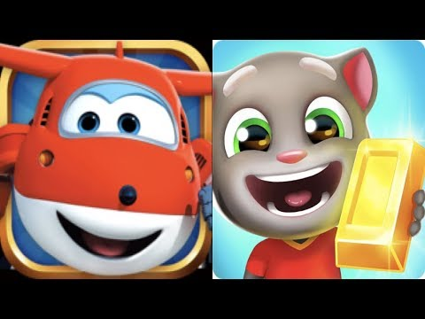 Talking Tom Hero Dash Ft Super Wing Jett Run Rescue Tom & Jett Gameplay For Kid #3