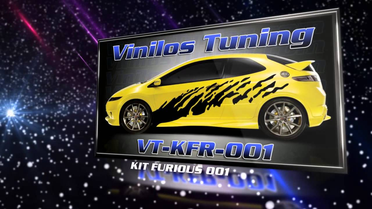 Vinilos tuning kit 39 s laterales adhesivos personalizados for Stickers para pared decorativos