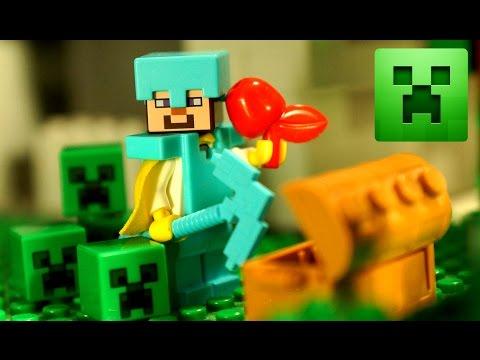 МАЙНКРАФТ Мультики ПОРТАЛ в МИР КРИПЕРОВ !!! Лего Майнкрафт Мультфильм - Lego Minecraft Animation - Видео из Майнкрафт (Minecraft)