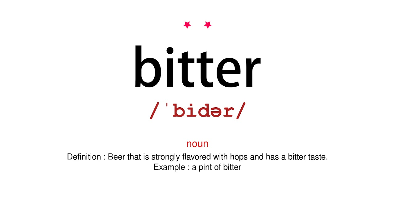 How to pronounce bitter - Vocab Today