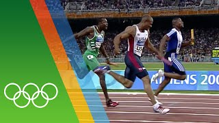 Great Britain's 4x100m relay win at Athens 2004 | Epic Olympic Moments