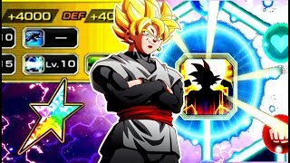 He does too much damage!!! 100% ssj rose goku black!! dragonball z dokkan battle!