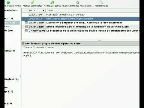 Molinux 5.0 - Liferea, lector de noticias