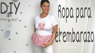 DIY Como hacer ROPA DE EMBARAZADA con tu ropa normal /Moda embarazada paso a paso