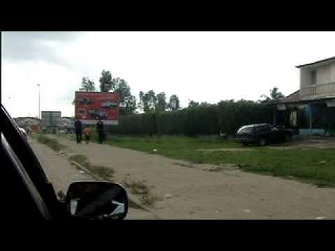 Car Drive in Abidjan, Cote d'Ivoire, Africa