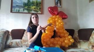 как сделать колокольчик из шаров