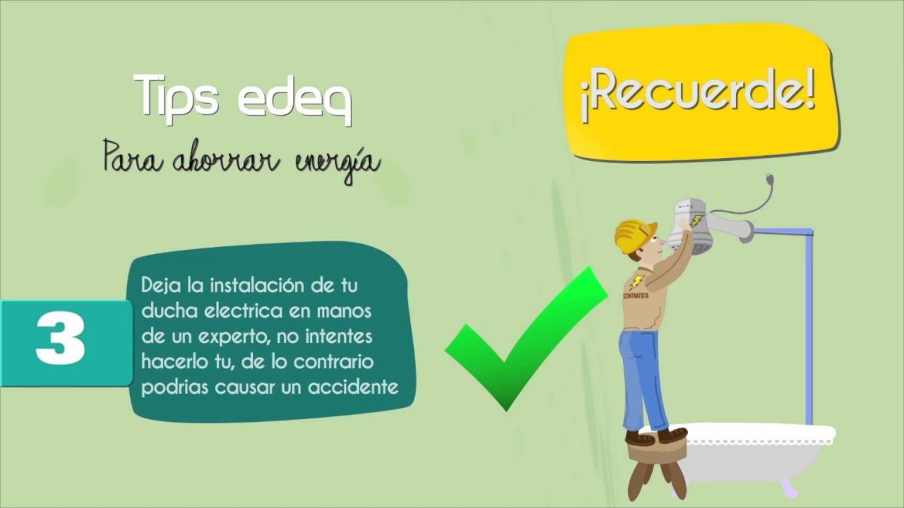 Tips para ahorrar energ a ducha el ctrica youtube for Ahorrar calefaccion electrica