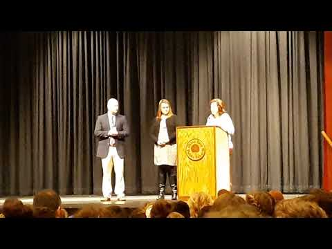 Jaylean's award ceremony 7th grade Galax Middle School