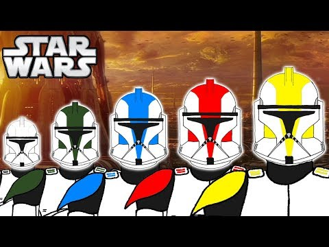 The 5 Clone Trooper COLOURS RANKS and Meanings PHASE 1  Star Wars Explained