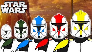 The 5 Clone Trooper COLOURS RANKS and Meanings PHASE 1 - Star Wars Explained