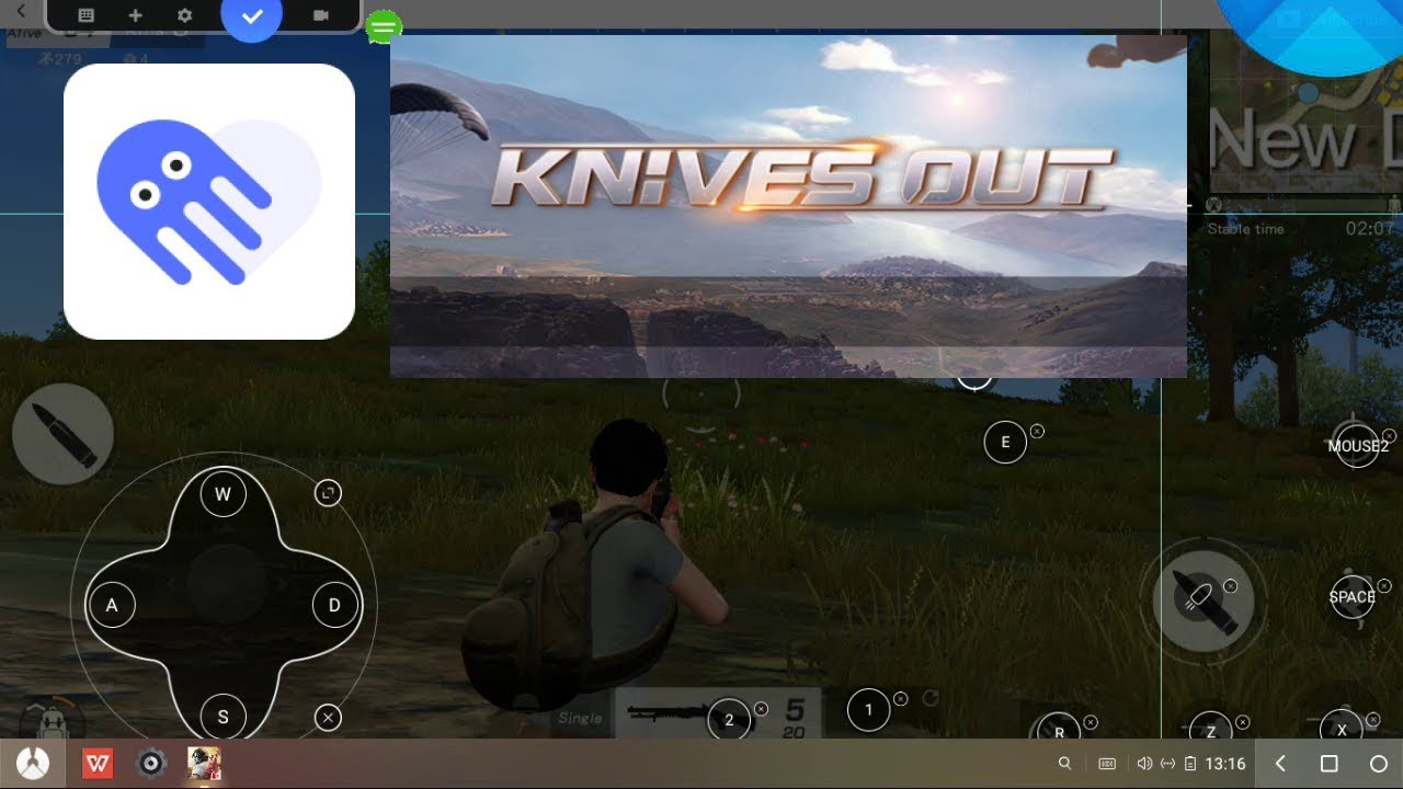 Phoenix OS Key Mapping Octopus Knives Out Like Tencent Gaming Buddy