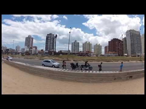 Estradas e praias do Uruguai