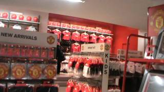 Official Manchester United Store in Old Trafford!!