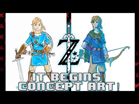 Breath Of The Wild Link Concept Art Revealed Youtube