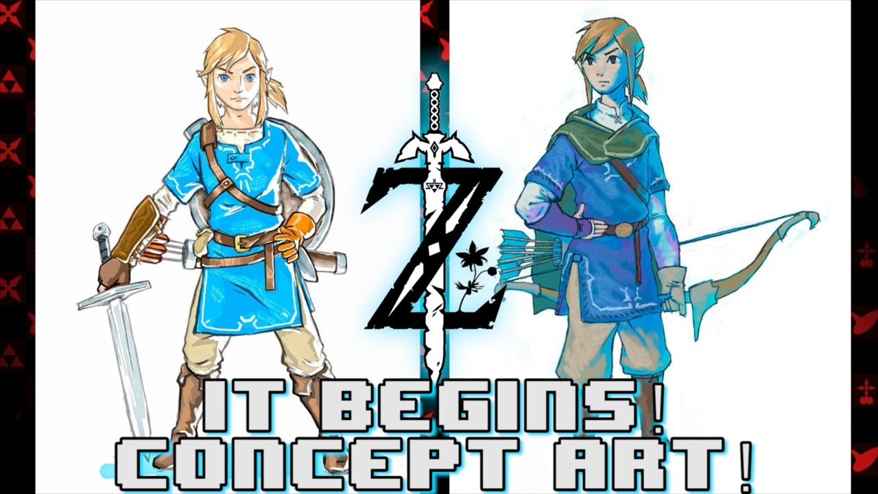 Breath Of The Wild Link Concept Art Revealed