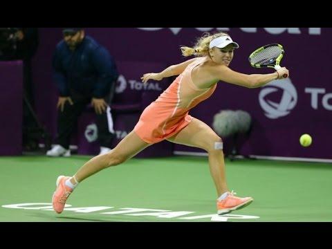2016 Qatar Total Open First Round | Caroline Wozniacki vs Ana Konjuh | WTA Highlights