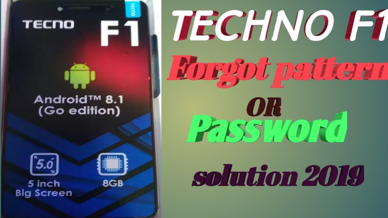 Techno F1 forgot pattern or password solution (Hard Reset),Thegsm Solve