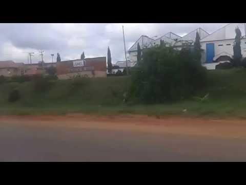 NIGERIA, ANAMBRA STATE DRIVING THROUGH AWKA 20131018