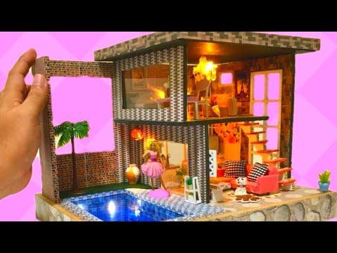 Diy Miniature Barbie Dreamhouse Modern House Mansion