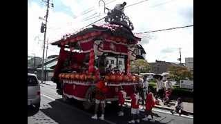 福島県白河市 鹿島神社祭礼の屋台 平成24年9月15日(土)朝