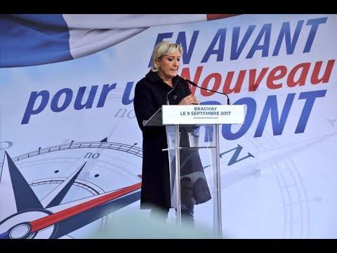 Rentrée politique : discours de Marine Le Pen à Brachay (09/09/2017)