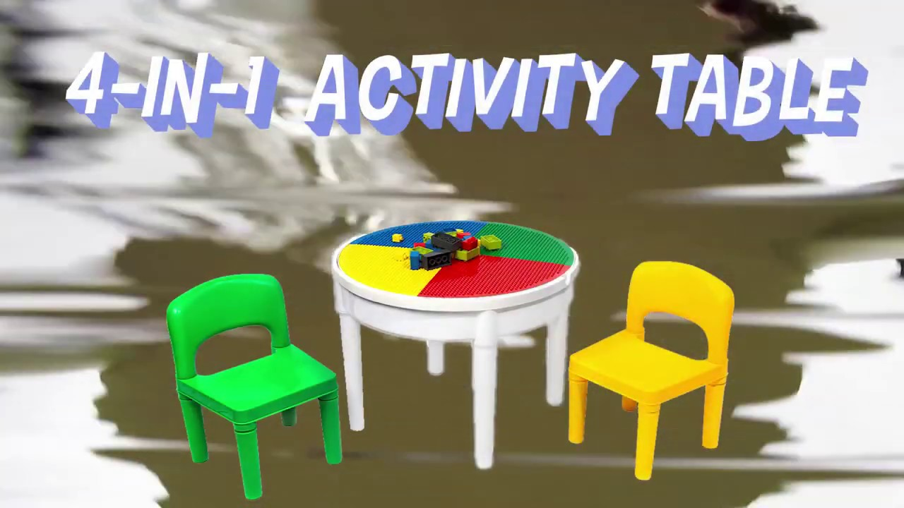 Think Fast Toys 4-in-1 Activity Table