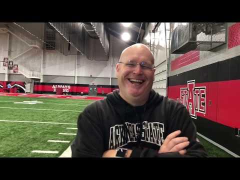 RWRC Radio Post Practice Interview W/AState OL Coach Allen Rudolph