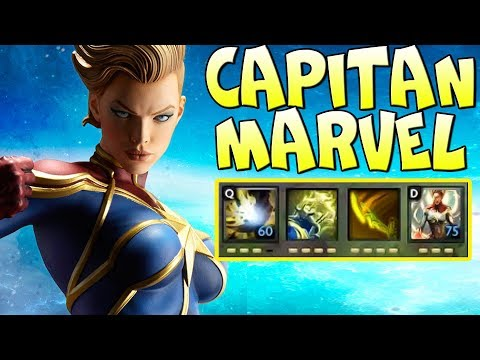 видео: КАПИТАН marvel - САМЫЙ СИЛЬНЫЙ СУПЕР ГЕРОЙ! dota 2 comics heros wars