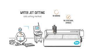 Waterjet cutting explained by STM waterjet