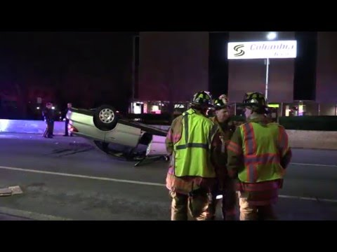 VIDEO: Overturned vehicle on Broadway in Fair Lawn.