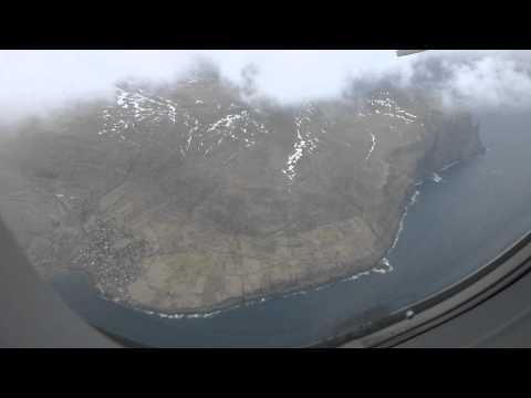 Takeoff from the Faroe Islands on an Atlantic Airways A319