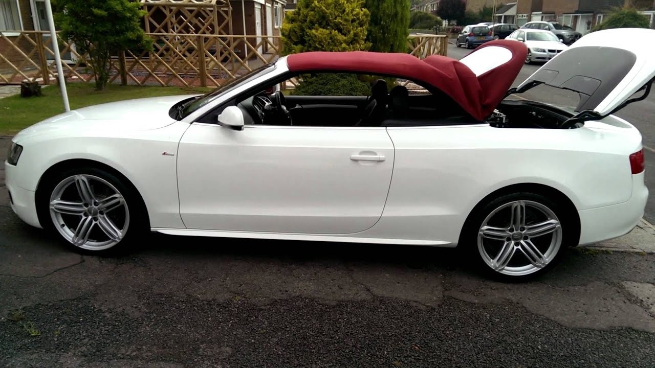 Audi A5 Cabriolet Convertible 8f Roof Opening With One